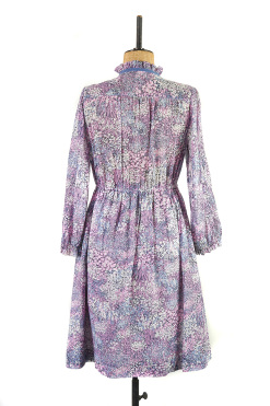 Lilac Sprigs and Flowers Dress