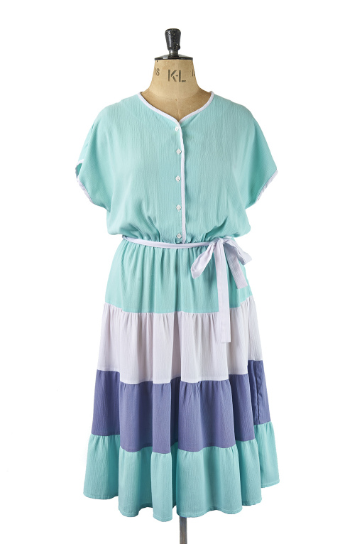 Size 18 Striped Vintage Dress, Margot & Hesse